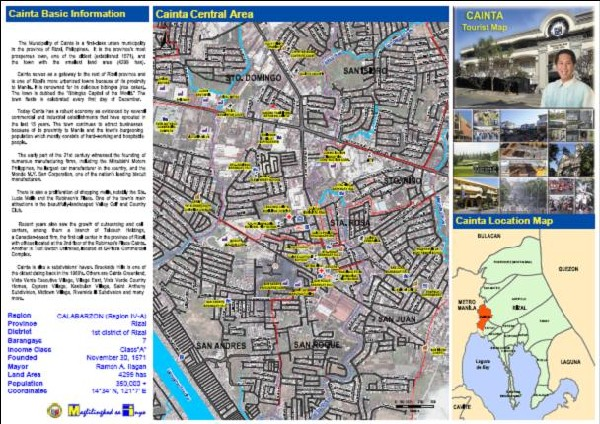 Cainta Philippines  city pictures gallery : regional and 3d topo map of Cainta, Philippines ::